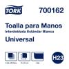 Tork Toalla Interdoblada Universal Blanca Hoja Sencilla 8 pq / 250 pz