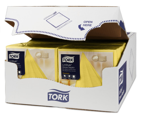 Tork Premium Linstyle® Dinner, Jaune