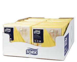 «Tork Premium Linstyle®» dzeltena banketu salvete