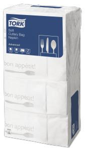 Tork Tovagliolo Cutlery Bag Bon Appetit Soft bianco