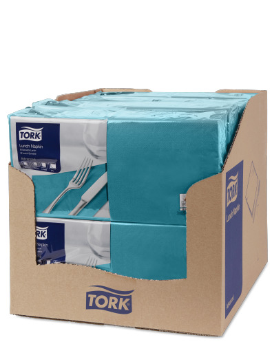 Tork Blue Green Lunch Napkin