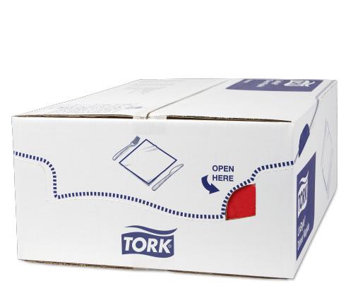 Tork Premium Linstyle® Red Dinner Napkin