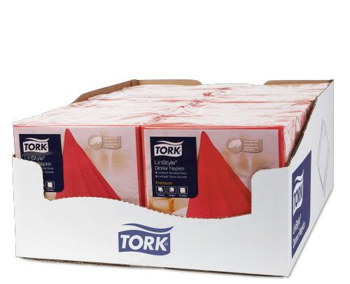 Tork Linstyle® нетканые салфетки обеденные красные