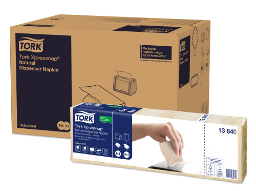 Tork Xpressnap® Natural Environmental Print Dispenser Napkin