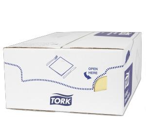Tork Premium Linstyle® Serviette Dinner, Champagne pliage 1/8