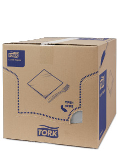 Tork Soft harmaa Lunch-lautasliina