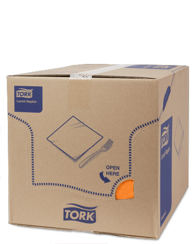 Tork Soft Orange Frokostserviet