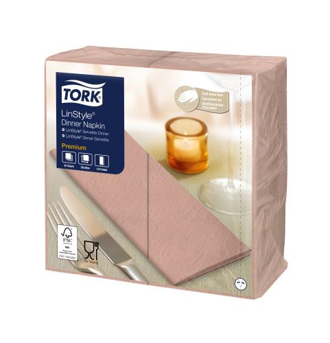 Tork Premium Linstyle® Coral Dinner Napkin 1/8 Folded