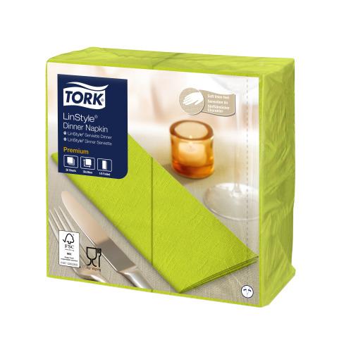 Tork Premium Linstyle® Serviette Dinner, Pistache, pliage 1/8