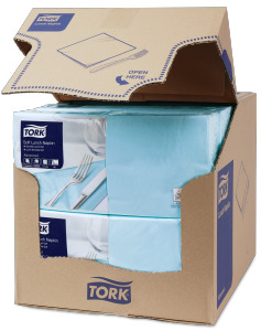 Tork Soft Light Blue Lunch Napkin