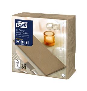 Tork Premium Linstyle® Serviette Dinner, Bistre, pliage 1/8
