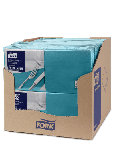 Tork Soft Blue Green Lunch Napkin