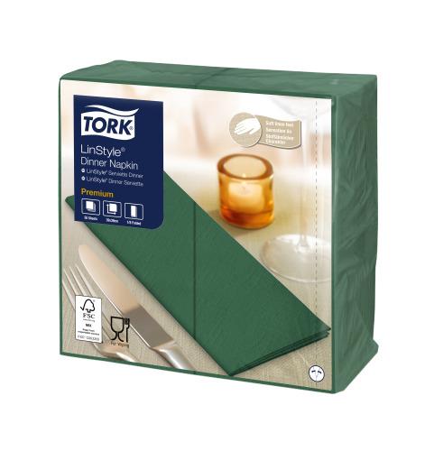 Tork Premium LinStyle® Middagsservett Grön