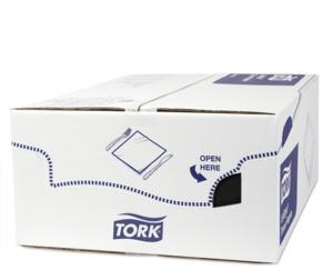 Tork PremiumLinstyle® Sort Middagsserviet 1/8 foldet