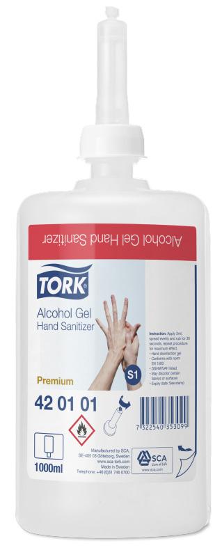 Tork Gel Hydro Alcoolique Pour Usage Frequent S1 Premium 6 X 1000 Ml