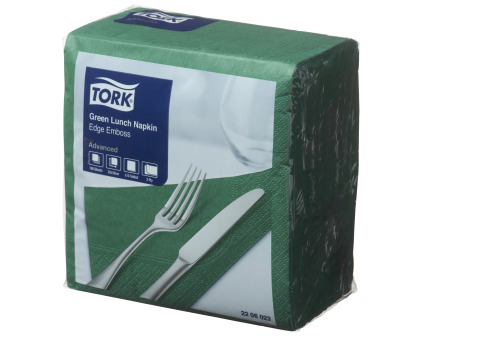 Tork®  Green Edge Emboss Quarterfold Lunch Napkin 2 Ply