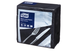 Tork® Black Edge Emboss Quarterfold Lunch Napkin 2 Ply