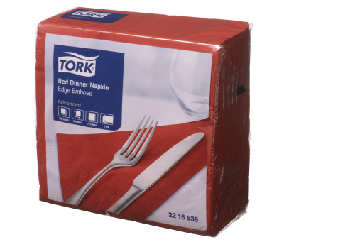 Tork®  Red Edge Emboss Quarterfold Dinner Napkins 2 Ply