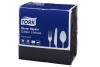 Tork®  Black Quilted Emboss 8 Fold  Dinner Napkin 2 Ply
