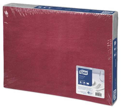 Tork Bordeaux Red papír tányéralátét