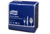 Tork®  Dark Blue Chequered Emboss  8  Fold Dinner Napkin 2 Ply
