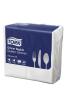 Tork®  White Quilted Emboss 8 Fold  Dinner Napkin 2 Ply