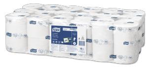 Tork Papier toilette rouleau Mid-Size sans mandrin Universal 1pli