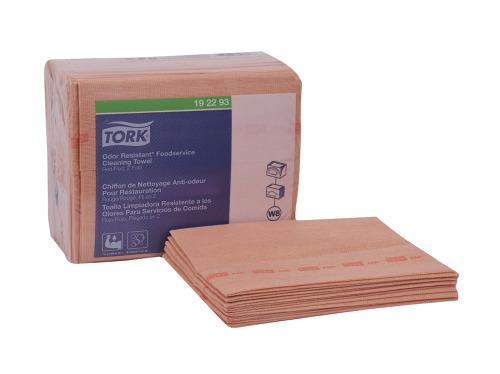 Tork Paño Antimicrobial Rojo 4 pq / 50 pz