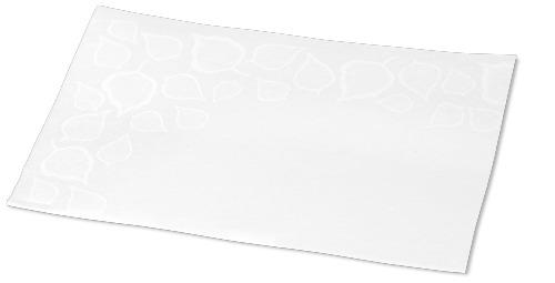 """Tork Xpressnap® – itin minkštos lapų raštu puoštos baltos dozatorių servetėlės"