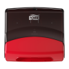 Tork Folded Wiper/Cloth Dispenser Red/Smoke