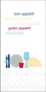 Tork Bon Appetit Lunch Napkin 1/8 Folded