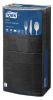 Tork®  Soft Black  Edge Emboss Quaterfold Dinner Napkin 3 Ply