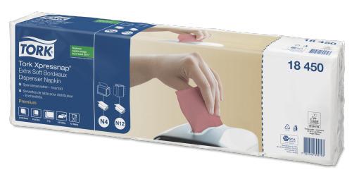 Tork Xpressnap® Extra Soft tumepunane jaoturisalvrätik