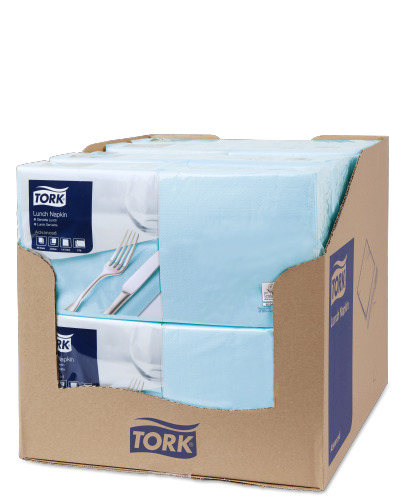 Tork Serviette Lunch, Bleu ciel