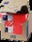 Tork салфетки 33х33 см красные