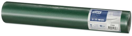Tork bordløper i mørk grønn som kjennes som tekstil