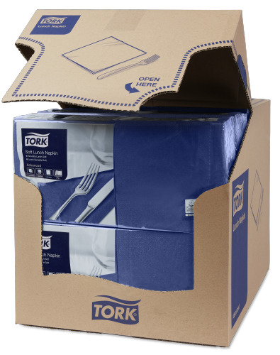 Tork Tovagliolo Lunch Soft blu scuro