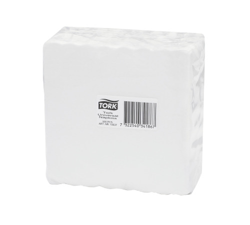 Tork White Cocktail Napkin 1 Ply