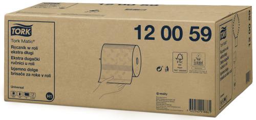Tork Matic® papierové utierky v kotúči - extra dlhý kotúč