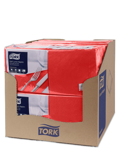 Tork Soft Lunchservietten Rot