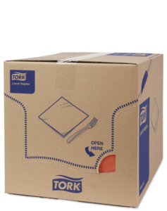 Tork Soft Terracotta Lunch Napkin
