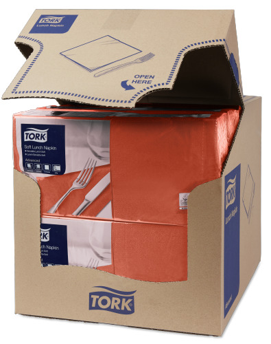 Tork Soft Terracotta Frokostserviet