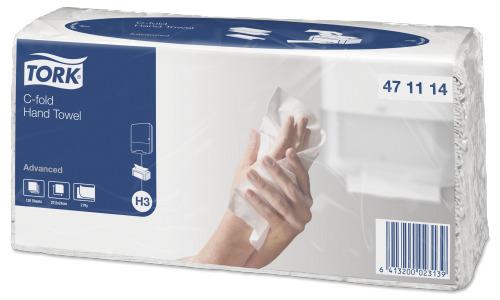 Tork листовые полотенца Singlefold C-сложения