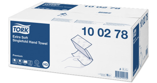 Ультрамягкие листовые полотенца Tork сложения Singlefold