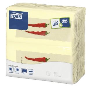 """""""Tork"""" vakarienės servetėlės su aitriosiomis paprikomis"""