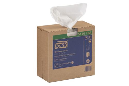 Chiffon simili-tissu de nettoyage Tork, boîte à sortie par le haut