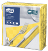 Tork Textured Yellow Dinner Napkin