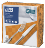 Tork Textured Orange Dinner Napkin