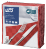 Tork Textured Red Dinner Napkin