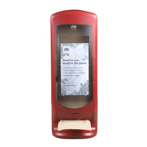 Despachador Tork Xpressnap® Stand Rojo